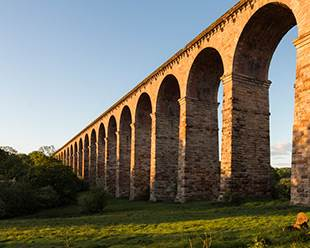 Early light on Crimple Viaduct