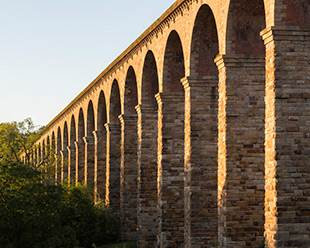 Each arch of the Crimple Viaduct has a 50 foot span