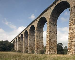 The Crimple Viaduct in summer