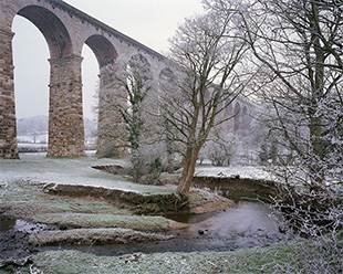 Hoar frost at the Crimple Viaduct