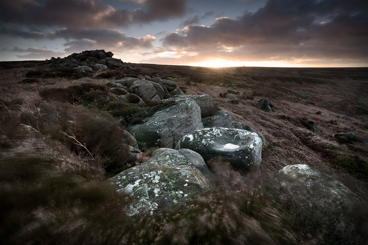 Winter Moorland  Moorland outcrop photo