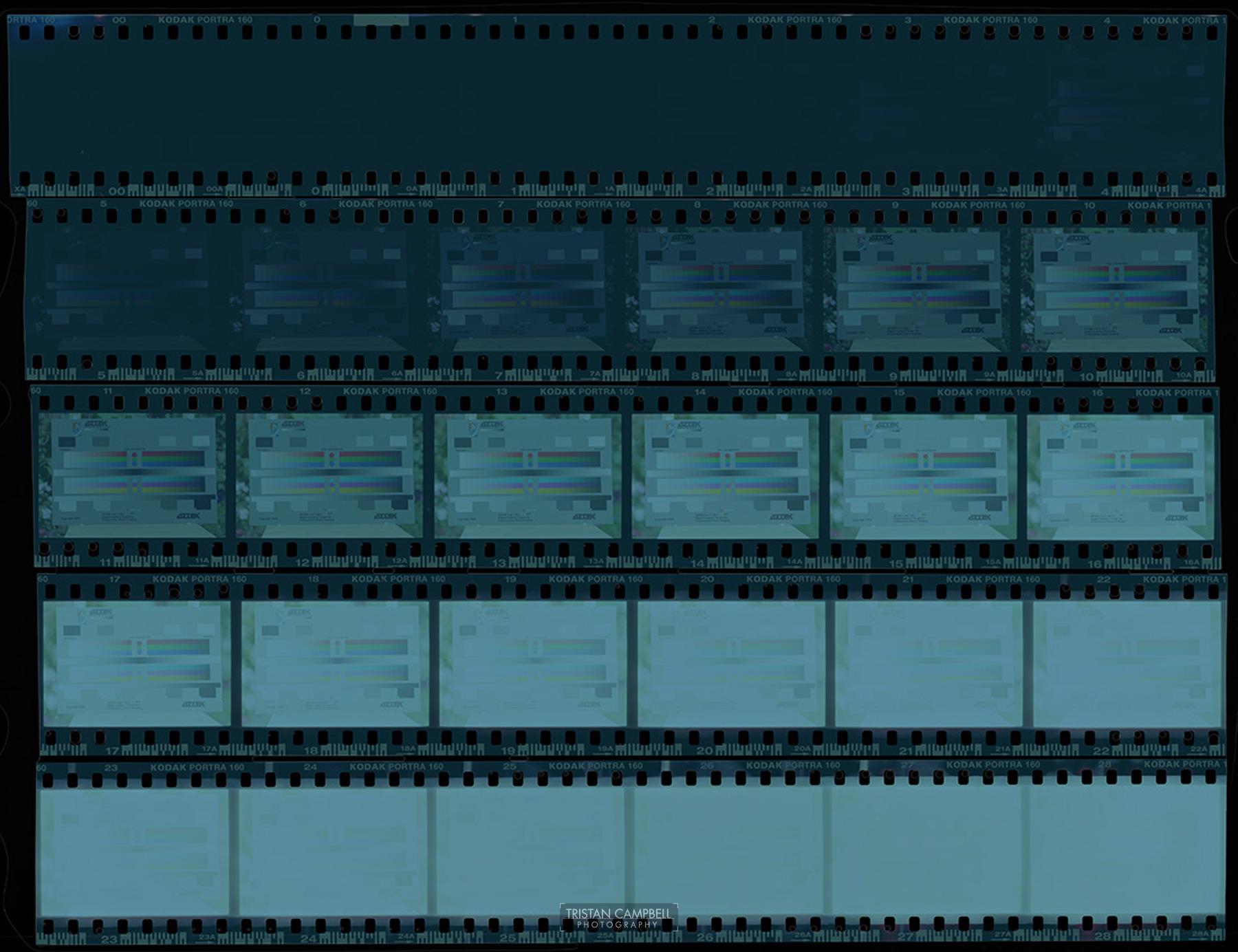 Scanning colour negatives